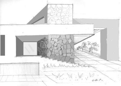 Boceto casa fachada