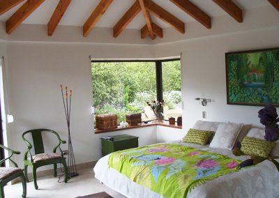 Interior dormitorio, casa Lomatuerta - Curacavi