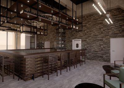 Trabajo render 3d interior bar por Roger Torres García.