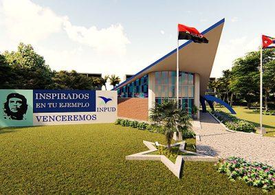 Trabajo render 3d edificio INPUD por Roger Torres García.